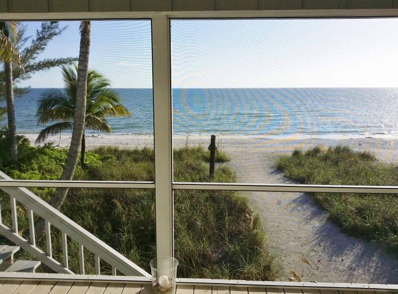 The beach is right out your backdoor!