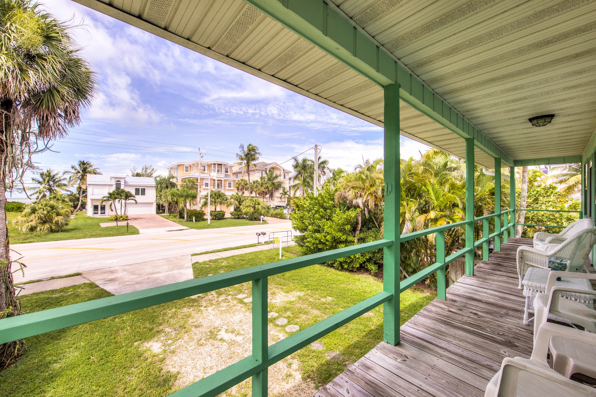 Enjoy a peek at the Gulf of Mexico from the Front Porch.